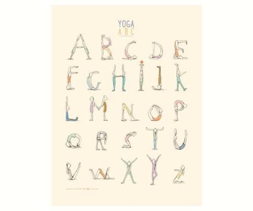 "Maileg Постер ""Yoga Alphabet"""