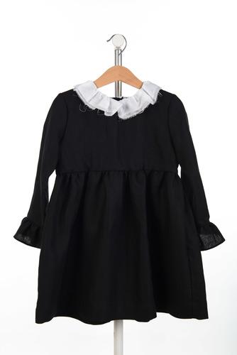 FUFA Платье черное c необработанным краем Flora