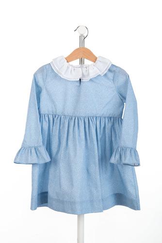 FUFA Платье голубое в белый цветочек Flora