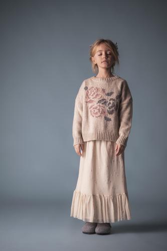 Tocoto Vintage Вязанный свитер с розой