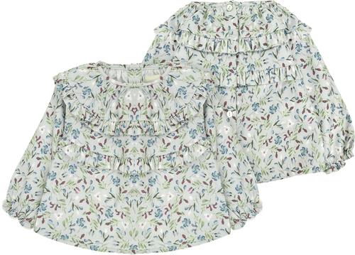 Bonnet a Pompon Блузка с цветочным принтом