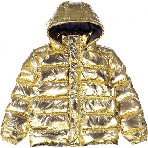Louis Louise Стеганная пуховая золотистая куртка Disco