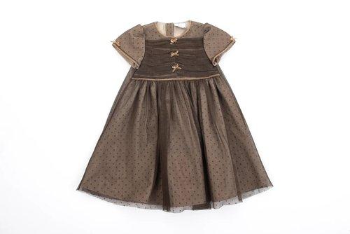 FUFA Платье коричневое с фатином