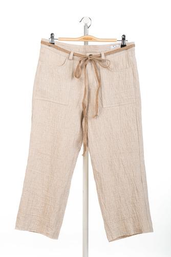 FUFA Льняные женские укороченные брюки