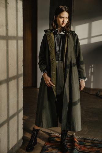 FUFA Длинное хлопковое пальто