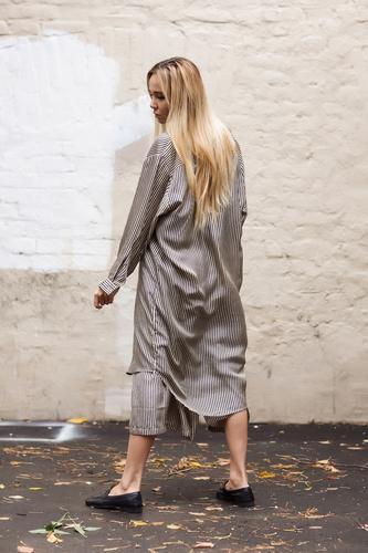 Mesdemoiselles  Paris Шелковая длинная рубашка-платье