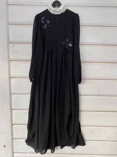 FUFA Шифоновое платье с длинным рукавом и вышивкой