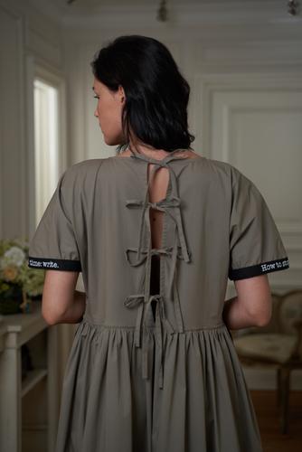 FUFA Свободное платье с надписями