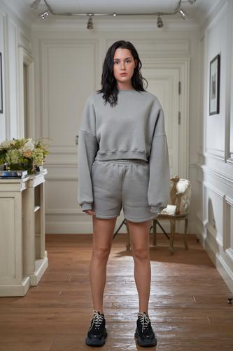 FUFA Костюм с шортами серый