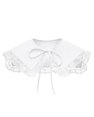 FUFA Pure white collar
